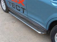 Пороги с площадкой (нерж. лист) 42,4 мм для Mitsubishi ASX (2013 -) ТСС MITSASX13-13