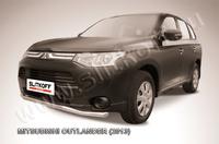 "Защита переднего бампера d57 ""волна"" для Mitsubishi Outlander (2012 -) Слиткофф MOUT13-001"