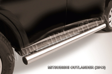 Пороги d76 труба для Mitsubishi Outlander (2012 -) Слиткофф MOUT13-006