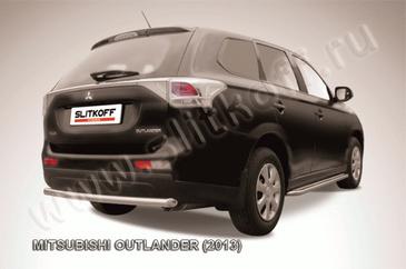 Защита заднего бампера d57  короткая для Mitsubishi Outlander (2012 -) Слиткофф MOUT13-011