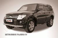 Защита переднего бампера d76 для Mitsubishi Pajero 4 (2006 -) Слиткофф MPJ010