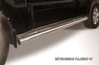 Пороги d76 труба для Mitsubishi Pajero 4 (2006 -) Слиткофф MPJ012