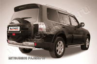 Защита заднего бампера d76 короткая для Mitsubishi Pajero 4 (2006 -) Слиткофф MPJ017