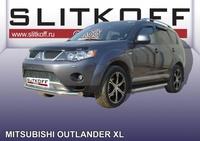 Защита переднего бампера d76 для Mitsubishi Outlander XL (2006 -) Слиткофф MXL005