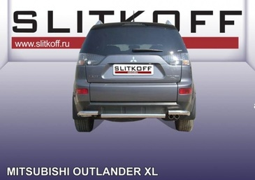 Защита заднего бампера d57 для Mitsubishi Outlander XL (2006 -) Слиткофф MXL011