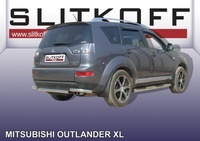 Уголки d57 для Mitsubishi Outlander XL (2006 -) Слиткофф MXL012