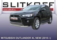 Защита переднего бампера d76 для Mitsubishi Outlander XL (2010 -) Слиткофф MXL10-004