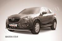 Защита переднего бампера d57 для Mazda CX-5 (2012 -) Слиткофф MZCX5-002