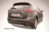 Защита заднего бампера d57  для Mazda CX-5 (2012 -) Слиткофф MZCX5-007