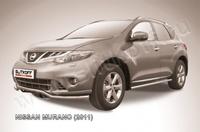 """Защита переднего бампера d57 """"волна"""" для Nissan Murano (2011 -) Слиткофф NIM11001"""