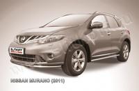 Защита переднего бампера d57+d42 двойная для Nissan Murano (2011 -) Слиткофф NIM11002