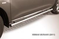 Пороги d76 труба для Nissan Murano (2011 -) Слиткофф NIM11005