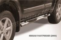 Пороги d76 с проступями для Nissan Pathfinder (2005 -) Слиткофф NIP007