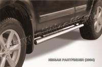 Пороги d76 труба для Nissan Pathfinder (2005 -) Слиткофф NIP008