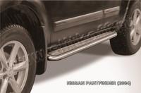 Пороги d57 с листом для Nissan Pathfinder (2005 -) Слиткофф NIP009