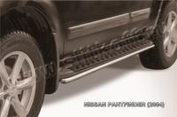 Защита штатного порога d42 для Nissan Pathfinder (2005 -) Слиткофф NIP010