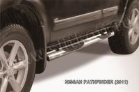 Пороги d76 с проступями для Nissan Pathfinder (2010 -) Слиткофф NIP11-003