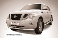 Защита переднего бампера d76 для Nissan Patrol (2010 -) Слиткофф NIPAT005