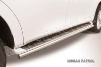 Защита штатного порога d57 для Nissan Patrol (2010 -) Слиткофф NIPAT012