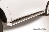 Защита штатного порога d42 для Nissan Patrol (2010 -) Слиткофф NIPAT013