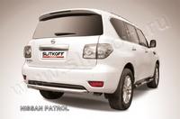 Защита заднего бампера d76 короткая для Nissan Patrol (2010 -) Слиткофф NIPAT017