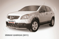 Защита переднего бампера d57 короткая для Nissan Qashqai (2010 -) Слиткофф NIQ11-004