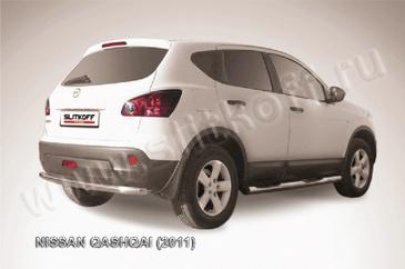 Защита заднего бампера d57 для Nissan Qashqai (2010 -) Слиткофф NIQ11-010