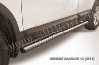 Пороги d76 труба для Nissan Qashqai +2 (2010 -) Слиткофф NIQ211-006
