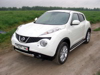 Пороги труба 42,4 мм для Nissan Juke Turbo (2012 -) ТСС NISJUKE4WDT12-02