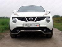 Защита передняя (кенгурин) 42,4 мм для Nissan Juke Turbo (2012 -) ТСС NISJUKE4WDT12-04