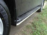 Защита порогов 42,4 мм на Nissan Patrol Y62 (2010 -) ТСС NISPATR10-02