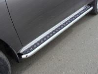 Пороги с площадкой 60,3 мм для Nissan Patrol (2014 -) ТСС NISPATR14-12