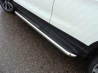 Пороги с площадкой из нержавеющего листа 60,3 мм для Nissan Qashqai (2014 -) ТСС NISQASH14-11