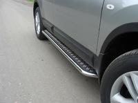 Пороги с площадкой 42,4 мм на Nissan Qashqai +2 (2010 -) ТСС NISQASH210-02