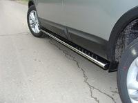 Пороги овальные с проступью 75х42 мм на Nissan Qashqai +2 (2010 -) ТСС NISQASH210-04