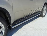 """Пороги """"труба"""" 60,3 мм на Nissan X-Trail (2011 -) ТСС NISXTR11-03"""