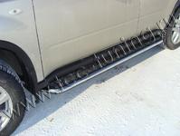 Пороги с площадкой 42,4 мм на Nissan X-Trail (2011 -) ТСС NISXTR11-05