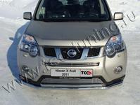 Решётка радиатора нижняя 12 мм на Nissan X-Trail (2011 -) ТСС NISXTR11-07