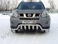 Защита передняя нижняя 60,3/75 мм на Nissan X-Trail (2011 -) ТСС NISXTR11-09