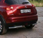 """Защита задняя """"уголки"""" d76 на Nissan Juke 4x4 (2010 -) СОЮЗ-96 NJU4.76.1396"""