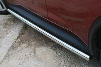 """Пороги """"труба"""" d60 на Nissan Juke 4x4 (2010 -) СОЮЗ-96 NJU4.80.1390"""