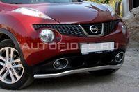 Защита переднего бампера d60 одинарная на Nissan Juke (2010 -) СОЮЗ-96 NJUK.48.1339
