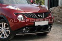 Защита переднего бампера d42 одинарная на Nissan Juke (2010 -) СОЮЗ-96 NJUK.48.1340