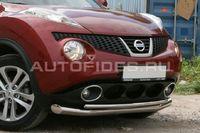 Защита переднего бампера d76/42 двойная на Nissan Juke (2010 -) СОЮЗ-96 NJUK.48.1341