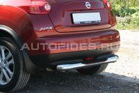 Защита заднего бампера d76 с проступью на Nissan Juke (2010 -) СОЮЗ-96 NJUK.75.1353