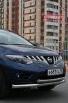 Защита переднего бампера d76/60 двойная на Nissan Murano (2008 -) СОЮЗ-96 NMUR.48.0828