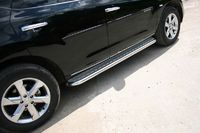 Пороги с алюминиевым листом d60 на Nissan Murano (2008 -) СОЮЗ-96 NMUR.82.0830