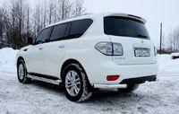 """Защита заднего бампера """"уголки"""" d76 одинарные на Nissan Patrol Y62 (2010 -) СОЮЗ-96 NPAT.76.1215"""
