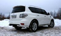 """Защита заднего бампера """"уголки"""" d60 одинарные на Nissan Patrol Y62 (2010 -) СОЮЗ-96 NPAT.76.1216"""