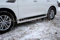 Защита штатных порогов d60 на Nissan Patrol Y62 (2010 -) СОЮЗ-96 NPAT.86.1212